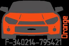 Orange fluorescent F-340214-795421