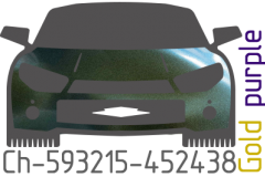 Gold purple chameleon Ch-593215-452438